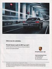 PORSCHE CAYMAN - PUBLICITE PRESSE PAPER ADVERT- ANNEE 2014 - AUTOMOBILE CAR
