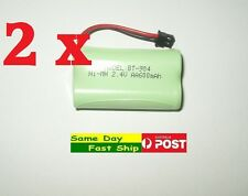 2x Generic Ni-Mh 2.4V Repl Battery for Uniden BT-904 BT-904s SSE05 SSE27 SSE25