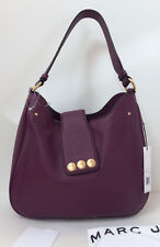 NWT Marc Jacobs New York Hobo Bag Leather Purse M0011987 Aubergine New