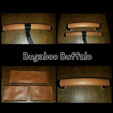 Bugaboo Buffalo En Cuir Synthétique Fermeture Éclair Sur Poignée Bar et pare-chocs bar couvre en Tan