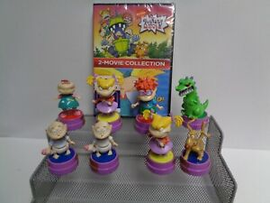1997 RUGRATS ACTION RUBBER STAMPS FIGURES & THE RUG RATS MOVIE