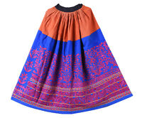 Indien Coton Kutch Brodé Jupe Long Ghaghra Banjara Femmes Taille Patineuse