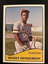 1979 TCMA RICKEY HENDERSON OGDEN A'S MINOR LEAGUE ROOKIE RC CARD #9 EX-NM