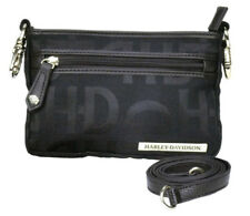 Harley-Davidson Women's Hip Bag, HD Jacquard, Black Cotton Purse  HD3492J-Black