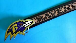 BALTIMORE RAVENS Genuine Leather Belt & licensed Epoxy RAVENS Buckle