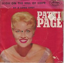 Patti Page. By A Long Shot / High On The Hill Of Hope. 1963. 45rpm. With Cover.