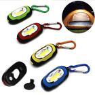Portable Magnetic Key Chain Flashlight Torch COB LED Light Lamp Camping Lantern