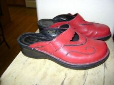 Josef Seibel Red Leather Mule Clog slip on Size 38 US 7-7.5