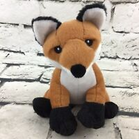 Scholastic Fox Plush Red-Brown Sitting Stuffed Wild Animal Soft Nature Toy