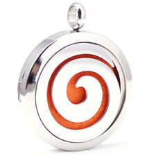 *Elegant - Scroll, Diffuser Necklace Locket Stainless Still 10ml Oil, 11 pads