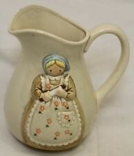 "8"" Vintage Otagiri Off White Ceramic Pitcher Made In Japan"