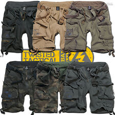 Brandit Savage Mens Deluxe Military Army Combat Cargo Cotton Shorts, Casual Camo