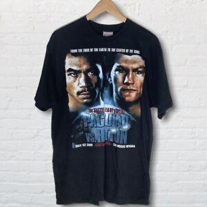 Manny Pacquiao Vs Ricky Hatton 2009 Boxing Fight Black T-shirt Las Vegas Large