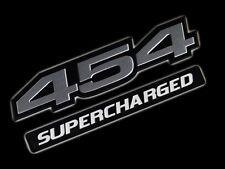 VMS 1 CHEVY 454 CI SUPERCHARGED ENGINE HO EMBLEM SILVER BLACK