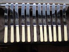 Set Of Knives Antique, Marked Blades, 1870 Nice Victorian Set Of 12 Dinner Set