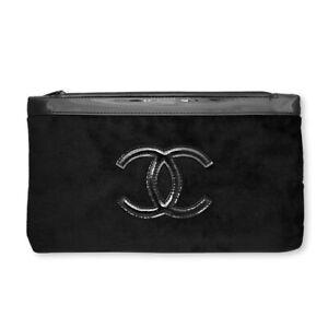 NEW VIP Gift Chanel LOGO Flannel cosmetic bag / beauty bag