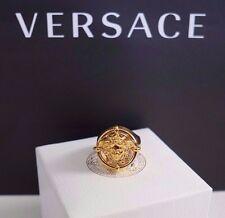 NIB Authentic VERSACE Iconic MEDUSA LOGO Gold-Toned Statement Ring US-11