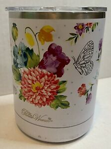 Pioneer Woman Travel Coffee Mug Cup Lid Blooming Bouquet Floral Insulated 12 oz