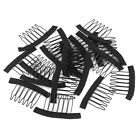 10-50 Wig Combs Clips Steel Tooth Comb for Human Hair Wig Caps Lace Cap Black