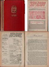 TEATRO-SIPARIO-RIVISTA-PRIMA ANNATA COMPLETA DAL n° 1 AL n° 8-1946