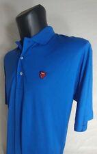 Rare Polo Ralph Lauren Crest Polo Golf Medium Blue  Shirt