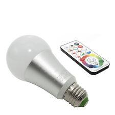 Lampadina LED RGBW 16W attacco E27 multicolore cromoterapia telecomando IR RGB