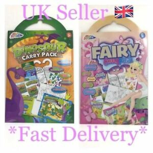 Activity Carry Pack Fairy OR Dinosaur Posters Stickers Height Chart Door Hanger