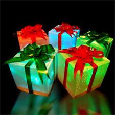 5 x LED Alimentato a Batteria Illuminare Sparkle regalo di natale scatole regalo pacco
