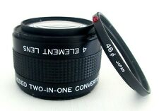 4 ELEMENT TWO IN ONE LENS CONVERTER 46MM