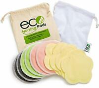 10 Pack Bamboo Nursing Breastfeeding Pads Washable Reusable Ultra-Soft Velvet