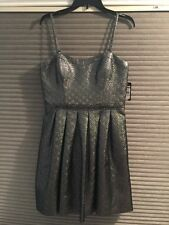 Guess Cocktail Dress New With Tag Metallic Silver Size 12