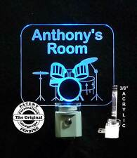 Personalized LED Drum Set Night Light, Drums, Instruments