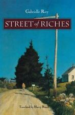 Street of Riches by Gabrielle Roy (1993, Paperback)