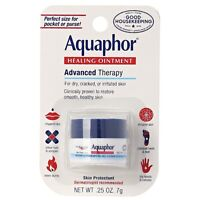 Aquaphor Healing Ointment Advanced Therapy Skin Protectant 0.25 oz (Pack of 2)