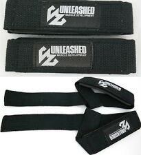 GYM STRAPS - WEIGHT LIFTING BODYBUILDING WRIST WRAPS BAR SUPPORT