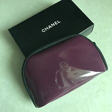 NEW Chanel Purple makeup Travel  Cosmetic Case Bag Clutch With BOX