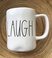 Rae Dunn Mug LAUGH Coffee Cup Farmhouse Valentine's Day Home Decor Gift