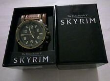Mens Skyrim The Elder Scrolls V Dragon Symbol Emblem Game Wrist Watch & Gift Box