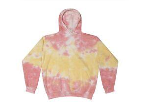 Tie Dye Multi-Color Hoodies, Adult & Kids  80% Cotton, L/S, Pockets No Zipper