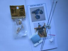 Knitting kit 1:12 scale clothes for dollhouse baby boy + 2 inch baby doll