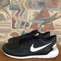 NIKE Women Training Shoes US 9 Free 5.0 Running Black White 724383-002 C5