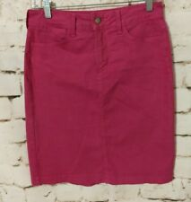 NYDJ Not Your Daughters Jeans Cotton Stretch Magenta Pink Skirt Women's Size 2P
