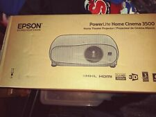 L👀K Epson Home Cinema 3500 1080P 3D 3LCD Home Theater PowerLite Projector