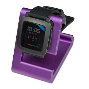 REFURBISHED TimeDock Pebble Time Dock for Charging, Stand - PURPLE