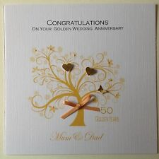 PERSONALISED Handmade GOLDEN WEDDING ANNIVERSARY CARD 50th