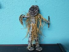 Vintage African Tribal Dancer Souvenir Doll Fetish Zambia 9.5""