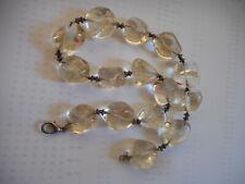 Antique large beads pool of lights quartz necklace, 112 g
