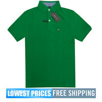 Tommy Hilfiger NWT Men's Custom Fit  Ivy Green Polo Shirt Free Ship