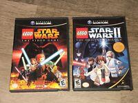 Lego Star Wars 1 & 2 Nintendo Gamecube Complete CIB Authentic