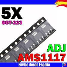 5x AMS1117 REGULADOR DE TENSION ADJ 1A VOLTAGE REGULATOR LOW DROPOUT SOT-223